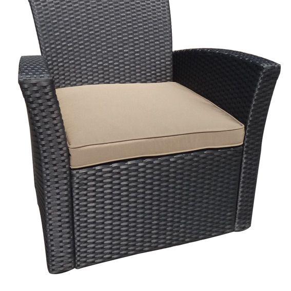 coussin de fauteuil ibiza taupe salon de jardin eminza. Black Bedroom Furniture Sets. Home Design Ideas