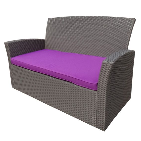 coussin de canap 2 places ibiza violet coussin de salon eminza. Black Bedroom Furniture Sets. Home Design Ideas