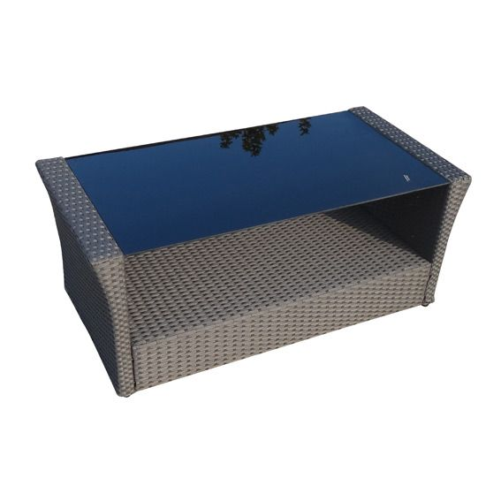 Table basse de jardin ibiza gris anthracite salon de for Table basse gris anthracite