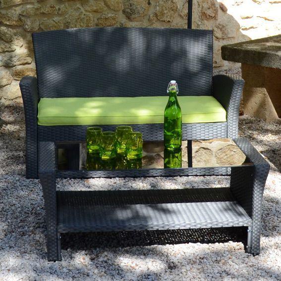 salon de jardin ibiza anthracite anis 4 places salon de jardin d tente eminza. Black Bedroom Furniture Sets. Home Design Ideas