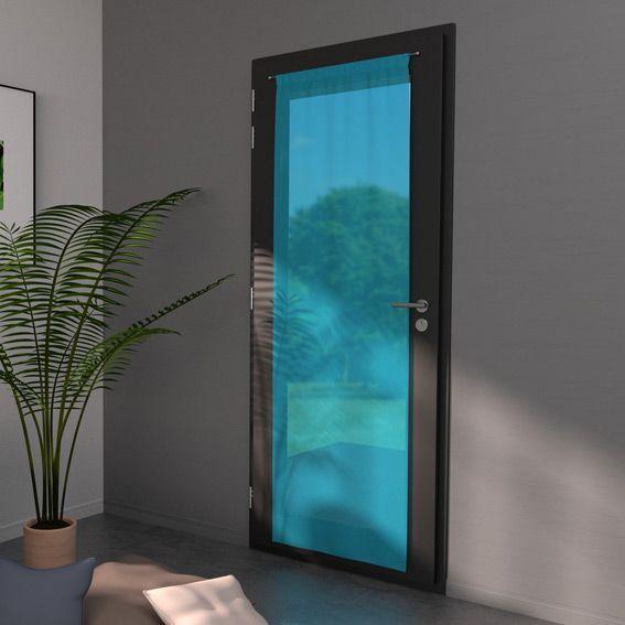 voilage vitrage 70 x h200 cm classico turquoise rideau. Black Bedroom Furniture Sets. Home Design Ideas