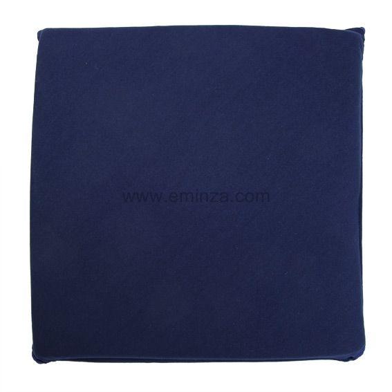 galette de chaise carr e gamme panama bleu marine galette et coussin de chaise eminza. Black Bedroom Furniture Sets. Home Design Ideas