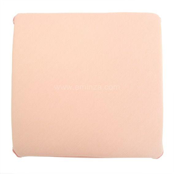 Galette de chaise panama rose poudr galette et coussin for Galette de chaise avec rabat