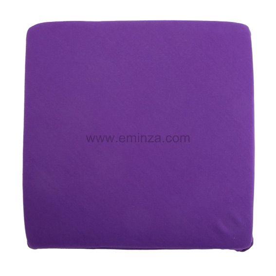 galette de chaise violette