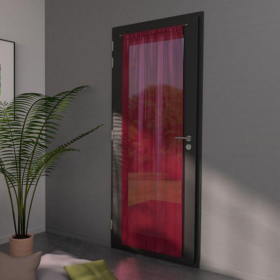 voilage vitrage 90 x h200 cm classico ray rouge rideau et voilage eminza. Black Bedroom Furniture Sets. Home Design Ideas
