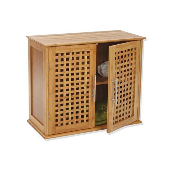salle de bain meuble sdb  portes bambou