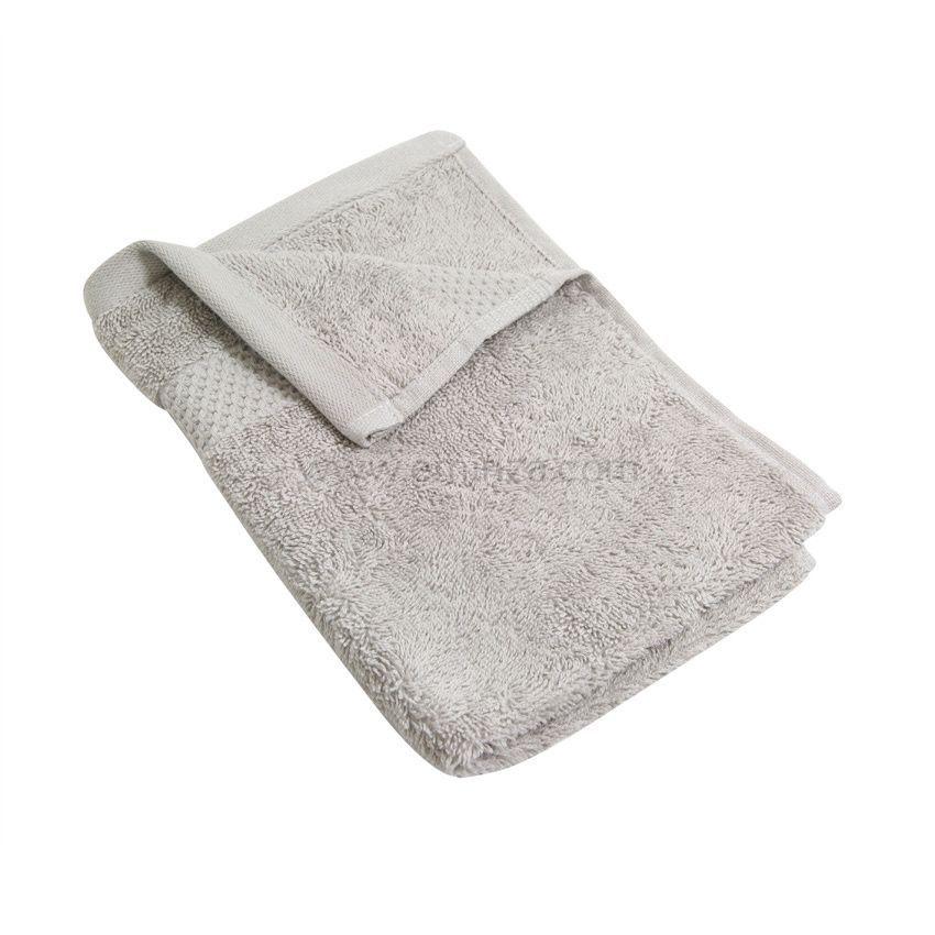 serviette de bain 30 x 50 cm vitabio gris clair serviette de bain eminza. Black Bedroom Furniture Sets. Home Design Ideas