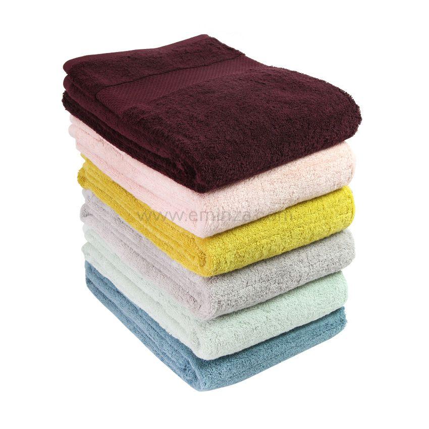 serviette de bain 50 x 90 cm vitabio gris clair serviette de bain eminza. Black Bedroom Furniture Sets. Home Design Ideas