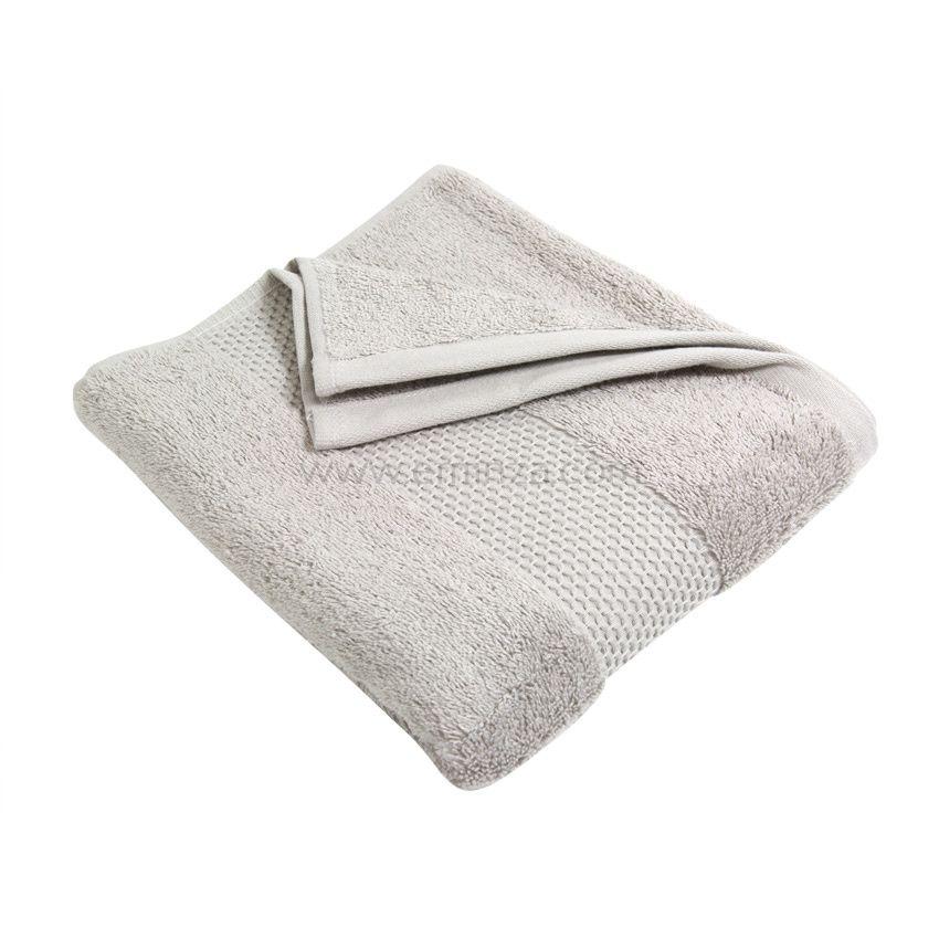 serviette de bain 70 x 130 cm vitabio gris clair serviette de bain eminza. Black Bedroom Furniture Sets. Home Design Ideas