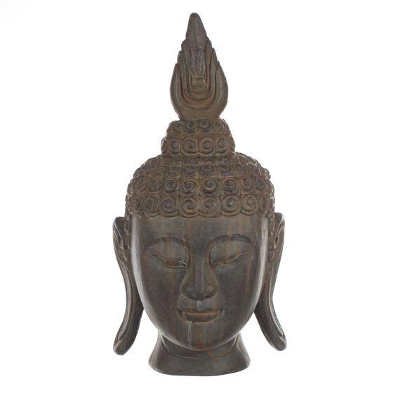 T te de bouddha anthracite fontaine et bouddha eminza for Bouddha deco exterieur