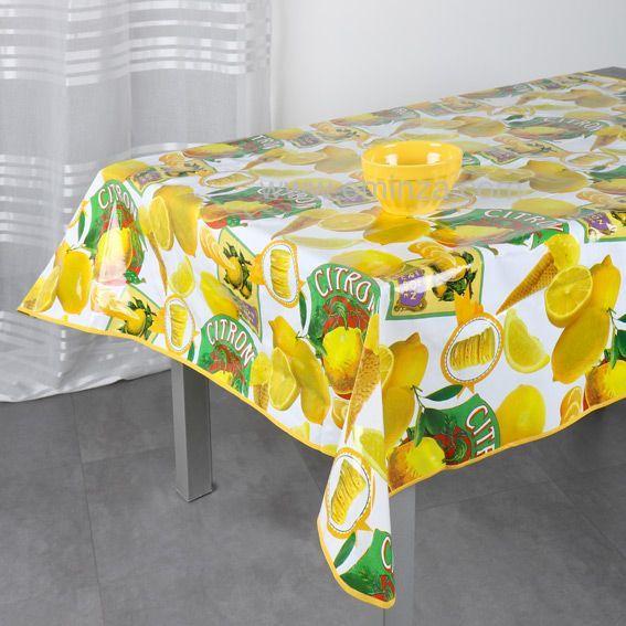 nappe cir e carr e l140 cm bergamote jaune linge de table eminza. Black Bedroom Furniture Sets. Home Design Ideas