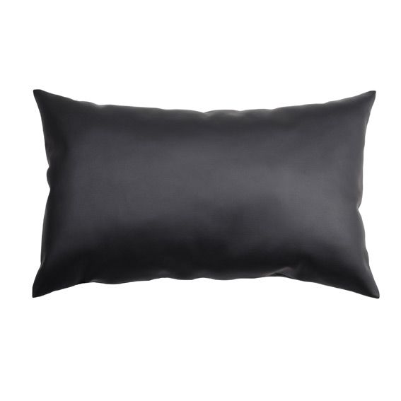 coussin rectangulaire ecocuir noir coussin et housse de. Black Bedroom Furniture Sets. Home Design Ideas