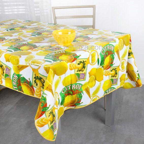 nappe cir e rectangulaire l240 cm bergamote jaune. Black Bedroom Furniture Sets. Home Design Ideas