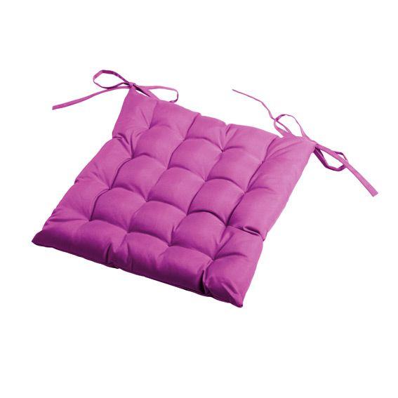 coussin de chaise matelass sun prune coussin et housse de protection eminza. Black Bedroom Furniture Sets. Home Design Ideas