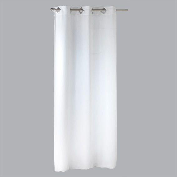 rideau 140 x h240 cm su dine blanc rideau tamisant eminza. Black Bedroom Furniture Sets. Home Design Ideas