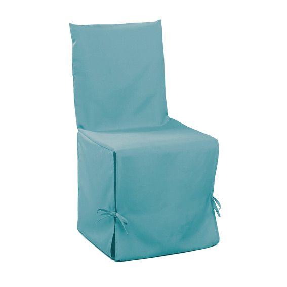 housse de chaise gamme essentiel bleu turquoise housse de chaise eminza. Black Bedroom Furniture Sets. Home Design Ideas