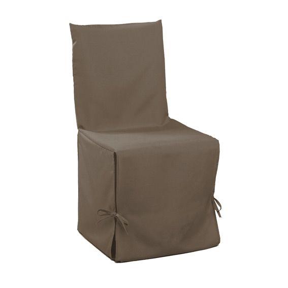 Housse de chaise gamme essentiel taupe housse de canap - Housse de canape taupe ...