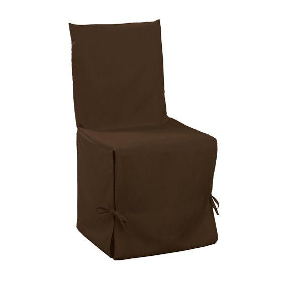 housse de chaise gamme essentiel chocolat housse de chaise eminza. Black Bedroom Furniture Sets. Home Design Ideas