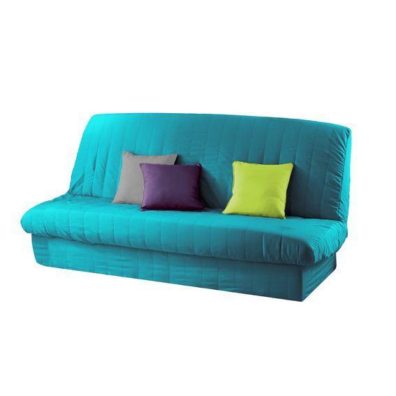 housse de clic clac gamme essentiel bleu turquoise housse de clic clac bz eminza. Black Bedroom Furniture Sets. Home Design Ideas