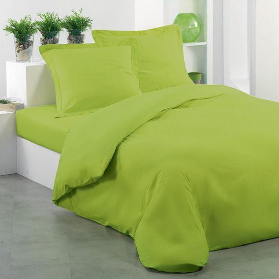 housse de couette l240 uni pistache housse de couette eminza. Black Bedroom Furniture Sets. Home Design Ideas