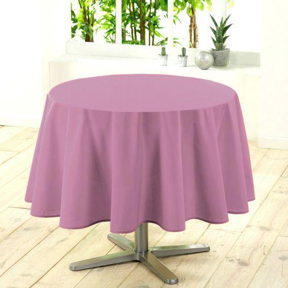 Nappe ronde d180 cm gamme essentiel rose poudr nappe de table eminza - Nappe rose poudre ...