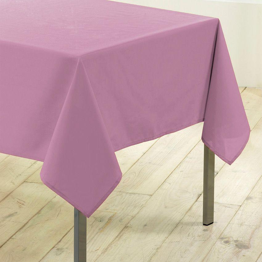 Nappe rectangulaire l200 cm gamme essentiel rose poudr nappe de table eminza - Nappe de table rectangulaire ...