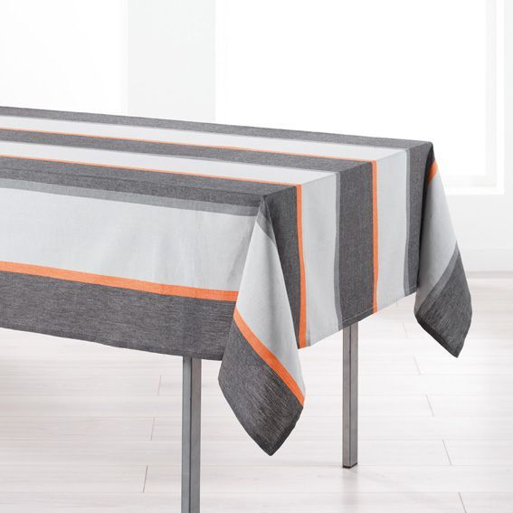 nappe rectangulaire l250 cm jazzy orange nappe de. Black Bedroom Furniture Sets. Home Design Ideas