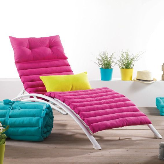 coussin bain de soleil pacifique fuchsia coussin et. Black Bedroom Furniture Sets. Home Design Ideas