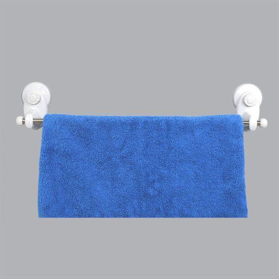 porte serviette simple avec ventouse blanc porte. Black Bedroom Furniture Sets. Home Design Ideas