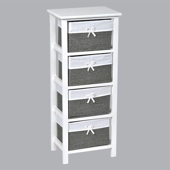 meuble panier gris meuble d co eminza. Black Bedroom Furniture Sets. Home Design Ideas