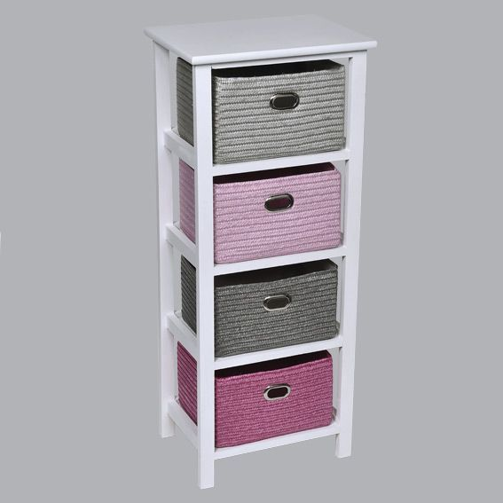 meuble panier key west rose meuble d co eminza. Black Bedroom Furniture Sets. Home Design Ideas