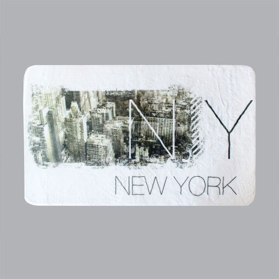 Tapis velours rectangulaire 80 cm new york tapis de - Tapis chambre new york ...