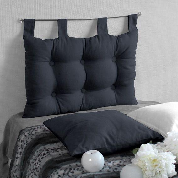 t te de lit 70 cm etna anthracite t te de lit eminza. Black Bedroom Furniture Sets. Home Design Ideas