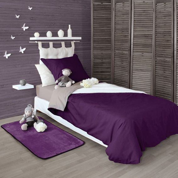 housse de couette 240 cm twice violet housse de couette eminza. Black Bedroom Furniture Sets. Home Design Ideas