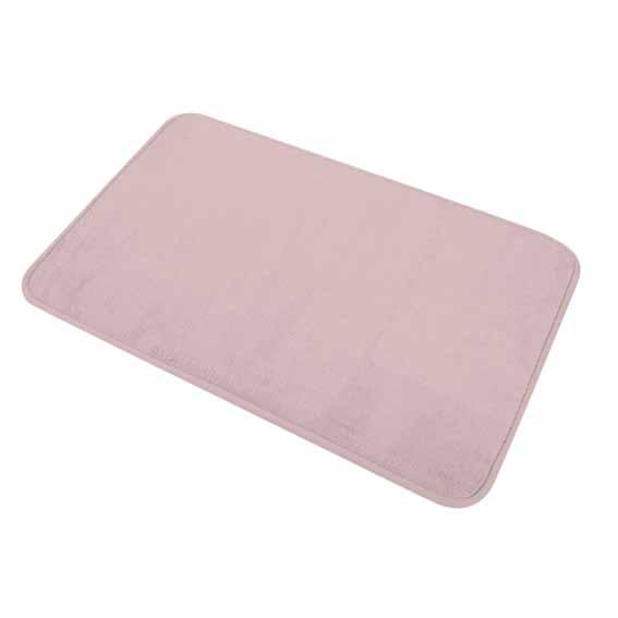 Tapis de bain vita rose tapis salle de bain eminza - Tapis salle de bain rose ...
