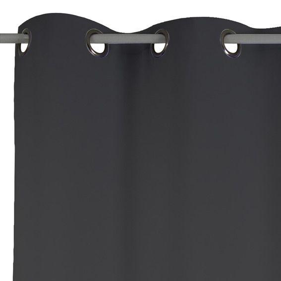 Rideau thermique 140 x h240cm attila noir rideau thermique et isolant e - Panneau isolant thermique ...