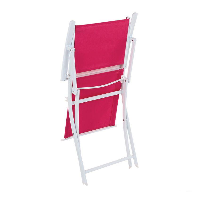 fauteuil de jardin pliant modula fuchsia blanc chaise. Black Bedroom Furniture Sets. Home Design Ideas