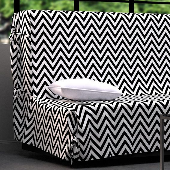 housse de clic clac dozer noir et blanc housse de clic. Black Bedroom Furniture Sets. Home Design Ideas