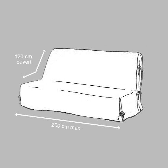 housse de clic clac dozer noir et blanc housse de clic clac bz eminza. Black Bedroom Furniture Sets. Home Design Ideas