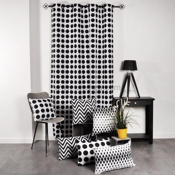 coussin dozer noir et blanc coussin et housse de coussin. Black Bedroom Furniture Sets. Home Design Ideas