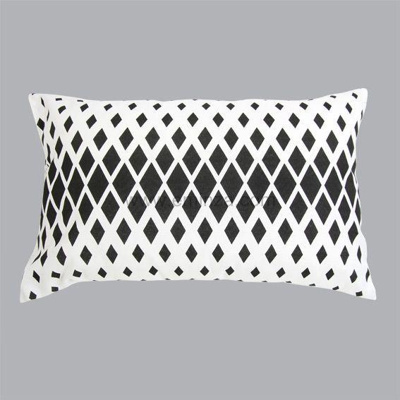 coussin rectangulaire sparks noir et blanc coussin et. Black Bedroom Furniture Sets. Home Design Ideas