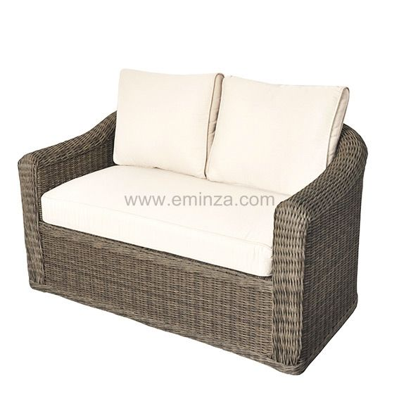 canap lavidia sable 2 places salon de jardin eminza. Black Bedroom Furniture Sets. Home Design Ideas