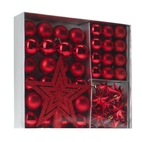 Kit de décoration de sapin de Noël Méribel Rouge - Kit de ...