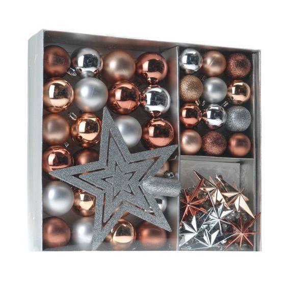 kit de d coration de sapin de no l m ribel cuivre boule de no l eminza. Black Bedroom Furniture Sets. Home Design Ideas