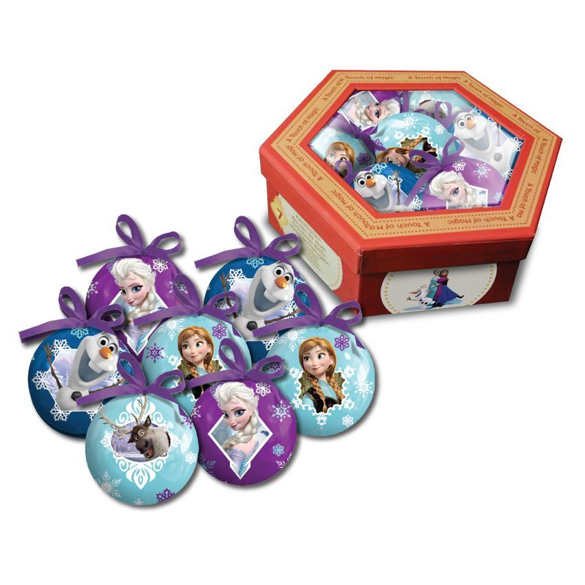 coffret de 7 boules de no l disney reine des neiges. Black Bedroom Furniture Sets. Home Design Ideas