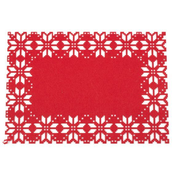 set de table flocon rouge linge de table eminza