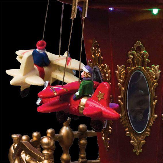 Idee Deco noel lumineux : Carrousel de Noël lumineux Avion volant - Village de Noël lumineux ...