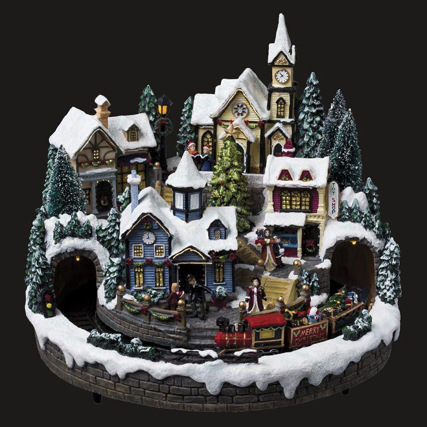 Village de no l illumin train aspen village de no l lumineux eminza - Decoration pour village de noel ...