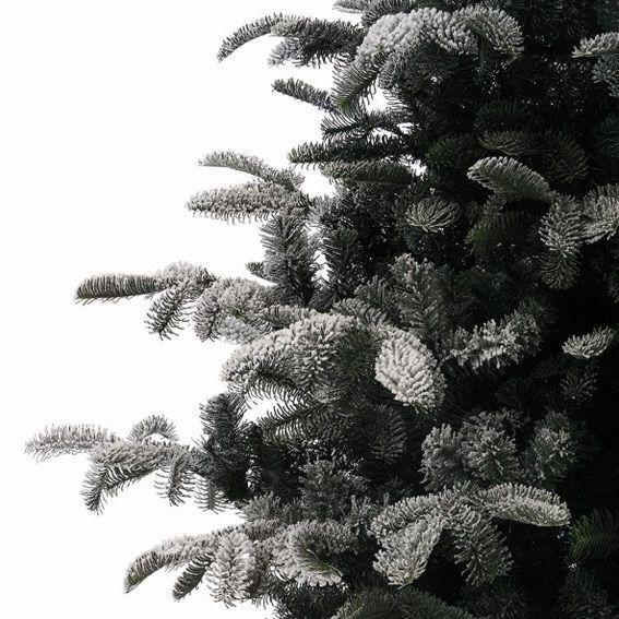 Sapin artificiel de Noël Nordmann H180 cm Vert enneigé - Sapin ...