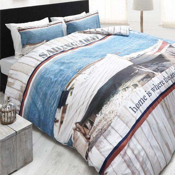 housse de couette et deux taies 240 cm sailing away. Black Bedroom Furniture Sets. Home Design Ideas